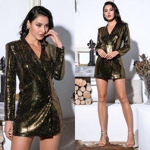 Jackets & Blazers - New Gold shimmer blazer dress.